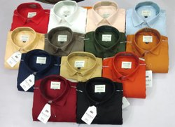 Collar Neck Casual Wear Mens Plain Shirts