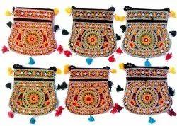 Little India Multicolor Sindhi Embroidery Pitcher Design Sling Bag, 300 Gm, Size: 9