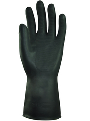 Black Heavy Latex Gloves