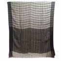 Ladies Traditional Linen Checks Saree, Length: 6.3 M