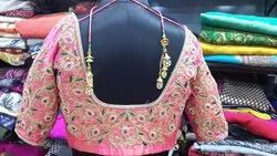 Pink Embroidery Floral Emb Work Blouse