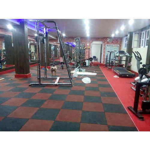 Beautiful Thick Rubber Gym Flooring