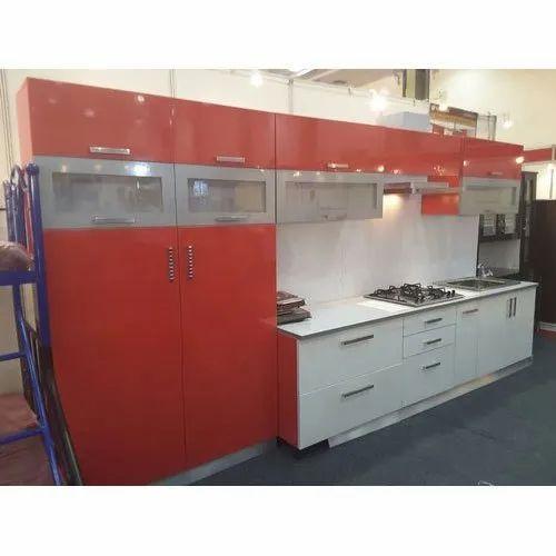 pvc modular straight kitchen at rs 600square feet
