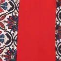 Red Poly Crepe Kurta(JNE2094)