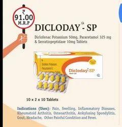 Diclofenac Potassium Paracetamol and Serratiopeptidase Tablets