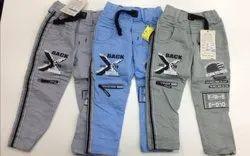 Stretchable Kids Printed Denim Jeans, Size: 20-30,32-40 Inch, Machine Wash,Hand Wash