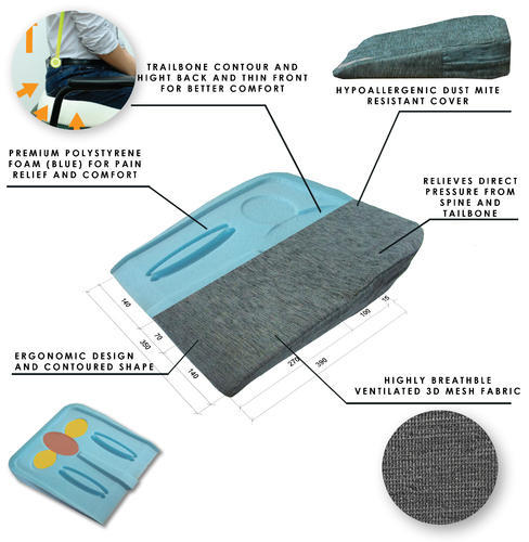 Seat Cushion For Back Pain >> Posture Corrector Lower Back Pain Relief Tail Bone Support Seat Cushion Back Ache