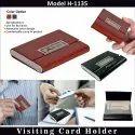 Black & Brown Leather Visiting Card Holder