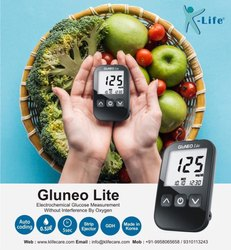 1-50 mmol/L Gdh Technology Gluneo Lite - Blood Glucose Meter, For Hospital, 90 Days