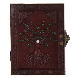Hand Painted Leather Journal Diary