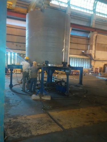 Wind Mill Tower Shell To Flange Hydraulic Fitup Roller Bed