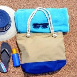Cotton Canvas Beach Bag