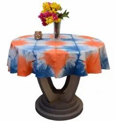 Handmade Table Covers Round Shibori Tie Dye Cotton Table Cloth Size 60 Inches
