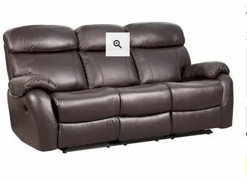Brilliant Three Seater Half Leather Recliner Sofa Unemploymentrelief Wooden Chair Designs For Living Room Unemploymentrelieforg
