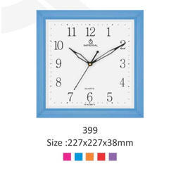 Blue Plastic Fancy Clock