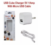 Callmate White Single USB Travel Adapter With Cable