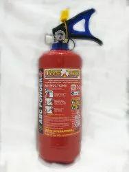 A B C Dry Powder Type Mild Steel Fire Extinguisher, Capacity: 2Kg