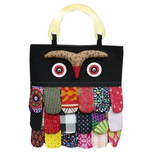 Black Owl Funky Handbag
