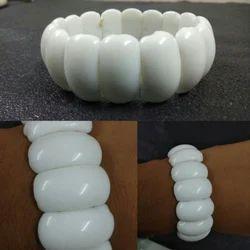 White Agate Rubber Bracelet