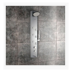Clyde Steel Matte Shower Panel