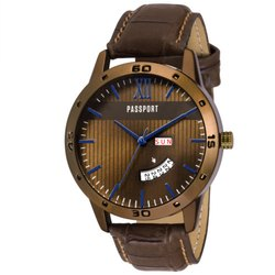 Brown Mens Analog Watch