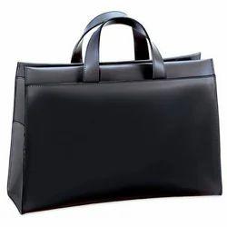 Black Non Woven Leather Laptop Bag