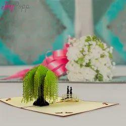 Couple On Bridge Romantic Pop-Up Greeting Card