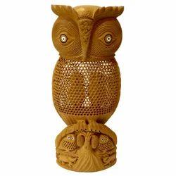 Wooden Undercut Standing Owl
