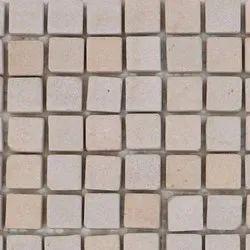 Capstona Stone Mosaics Ivory Aqua Tiles