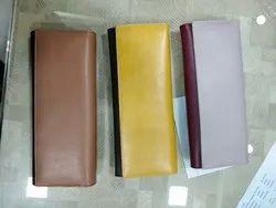 Multicolor Plain Ladies Leather Purse, Compartments: 3