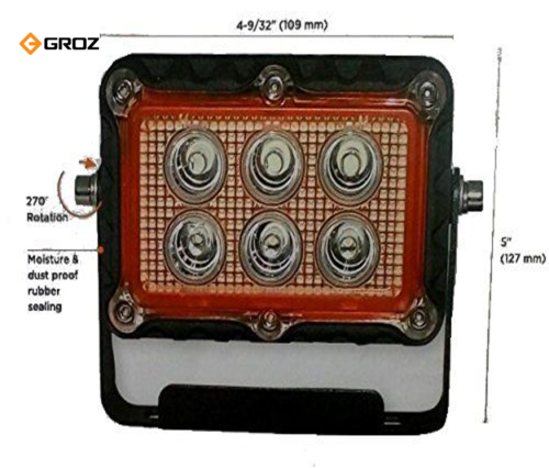 Groz LED 53018W Floodlight, 18w