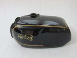 New Norton Commando Roadster Black Painted Petrol Tank