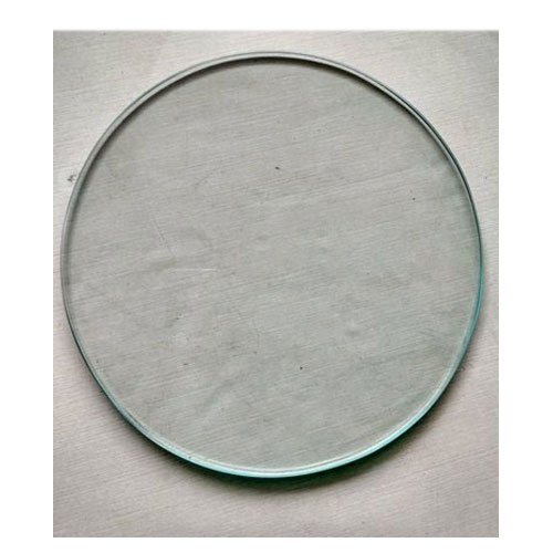 Transparent Round Plain Glass, Thickness: 8mm To 15mm