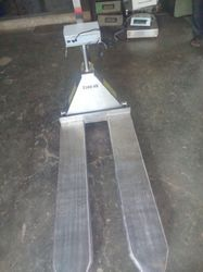 Balaad Stainless Steel Hand Pallet Truck with Weighing Scale, Horizontal Transport