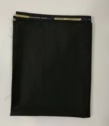 Black Jindal Complete Man Suiting Fabric, GSM :350