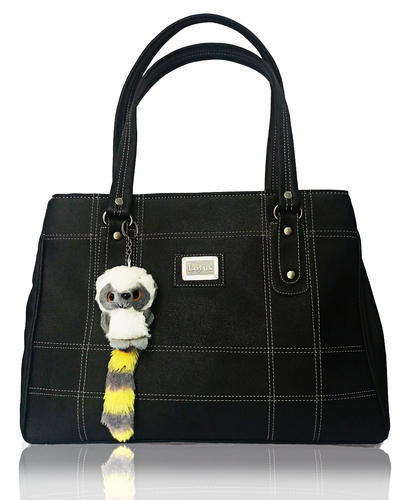 bc083d9da5 Black Rexine Ladies Girls Hand Bag   Shoulder Bag - SCBB-001
