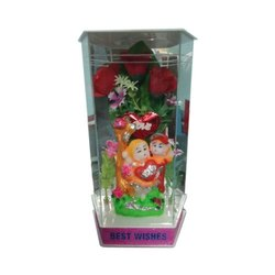 Acrylic Multicolor Couple gift showpiece