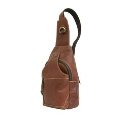 Genuine Rustic Brown Leather Chest Bag