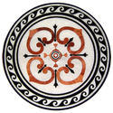 Round White Marble Table Top 688