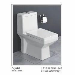 Radon White Crystal Ceramic Toilet Seat