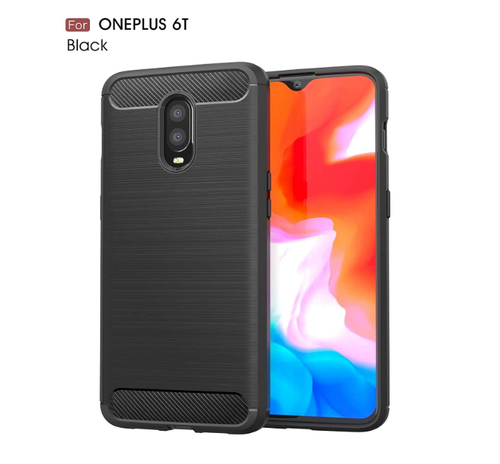 size 40 58144 3d682 Case Cover For 1 6t One Plus Oneplus 6t Carbon Black