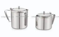 Silver TEA POT - STAINLESS STEEL, Grade: 202, Size: 1550-1000-500-750ML