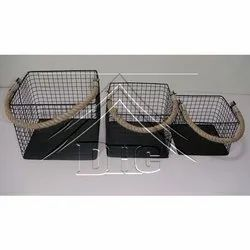 Deco Home Collection Square Iron Net Basket