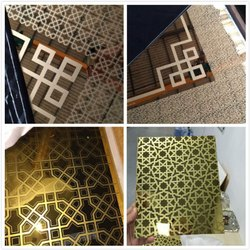 Stainless Steel Gold Etching Design Sheets