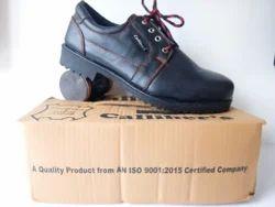 Calliber's Orange Stitching Safety Shoes