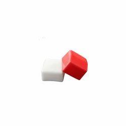 White And Red PVC Rectangular Cap