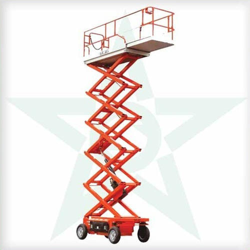 Vanjax Self Propelled Scissor Lift, Capacity: 1-2 ton