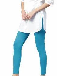Churidar Plain Fabu Fashionable Ankle Length Legging In Solid Blue