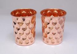 Copper Diamond Design Glass