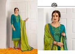 Kessi Silk Embroidery Designer Dress Material